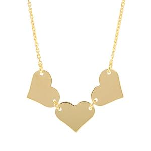 "18"" Midas Altro Diamond Cut Heart Necklace 1.91g"