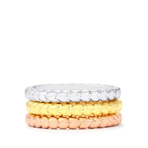 Set Of 3 Stacker Rings in Sterling Silver