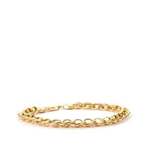 "7.5"" 9K Gold  Altro Fancy Textured Bracelet 6.25g"