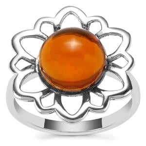 American Fire Opal Ring in Sterling Silver 3.06cts