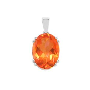 Padparadscha Quartz Pendant in Sterling Silver 9.47cts