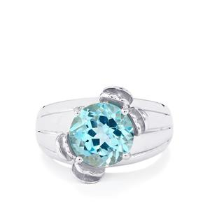4.39ct Sky Blue Topaz Sterling Silver Ring