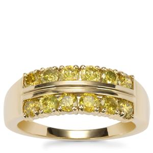 Yellow Diamond Ring in 10K Gold 1.05cts