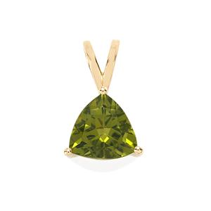 Changbai Peridot Pendant in 10k Gold 2.24cts