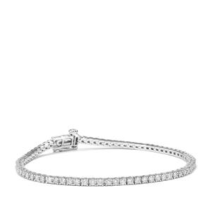 Diamond Bracelet in Platinum 950 2ct