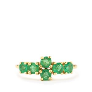 Zambian Emerald Ring in 10k Gold 1.04cts