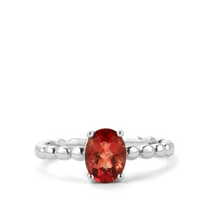Mongolian Red Andesine Ring  in Sterling Silver 1.11cts