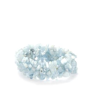 Aquamarine Nugget Stretchable Bracelet 266.50ts