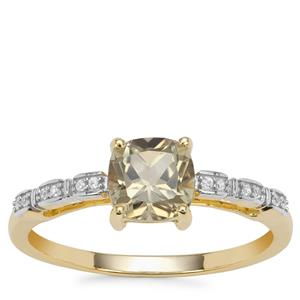 Csarite® Ring with White Zircon in 9K Gold 1.20cts