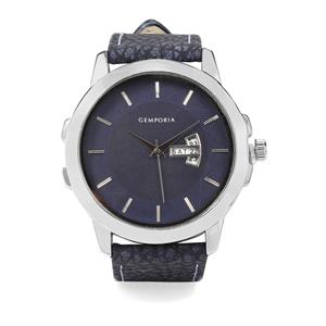 Case Colour Silver, Dial Colour Blue Watch With Alloy, Strap Material Synthetic Leather Analog Display Movement (SL68) (Lwm-inc-603)