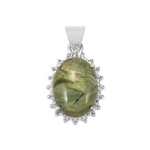 Chemin Opal Pendant in Sterling Silver 14cts (F)