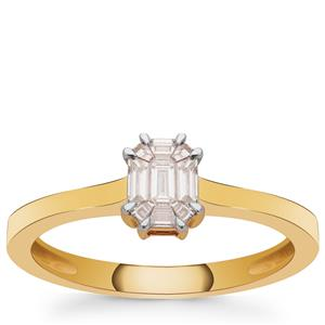 Pie Cut Diamond Ring in 18k Gold 0.29cts