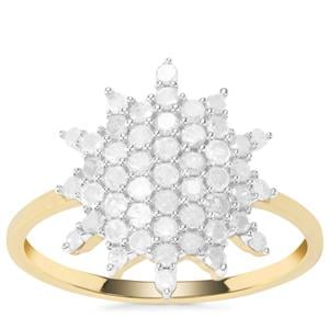 Diamond Ring in 9K Gold 0.75ct