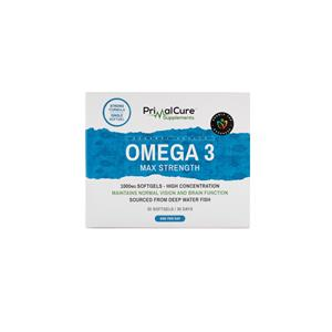 Omega 3 Max Strength Fish Oil (1000mg) Soft Gel Tablet X2
