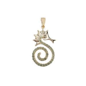 Alexandrite Sea Horse Pendant in 9k Gold 1.05cts