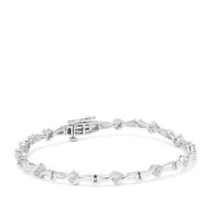 Diamond Bracelet in Sterling Silver 0.76ct
