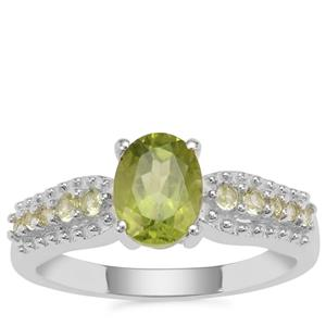 Red Dragon Peridot Ring in Sterling Silver 1.58cts