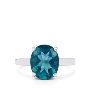 4.38ct Tucson Green Fluorite Sterling Silver Ring
