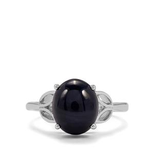 Madagascan Blue Star Sapphire Ring in Sterling Silver 5.85cts