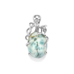 Larimar Pendant  in Sterling Silver 9.04cts