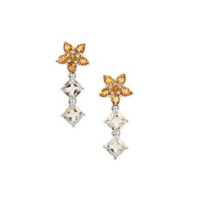 Serenite & Diamantina Citrine Sterling Silver Earrings ATGW 5.10cts