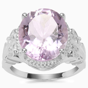 Rose De France Amethyst Ring in Sterling Silver 7.90cts