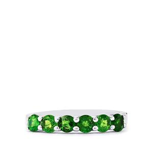 1.11ct Chrome Diopside Sterling Silver Ring
