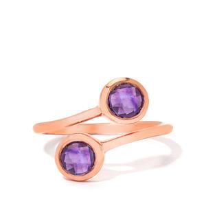 1.00ct Amethyst Rose Gold Vermeil Ring