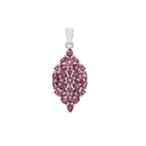 Rajasthan Garnet Pendant in Sterling Silver 4.31cts