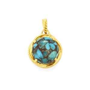 Egyptian Turquoise Pendant in Gold Plated Sterling Silver 8.58cts