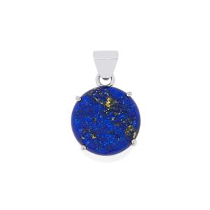 Lapis Lazuli Drusy Pendant in Sterling Silver 21cts