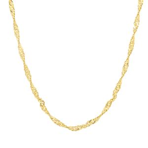 "18"" Midas Couture Diamond Cut Singapore Chain 1.99g"
