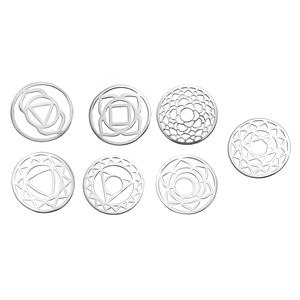 Sterling Silver Chakra Discs