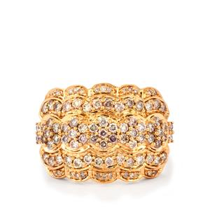 Pink Diamond Ring  in 18k Rose Gold 1ct