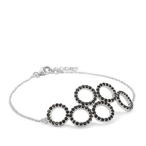 1.95ct Black Spinel Sterling Silver Bracelet