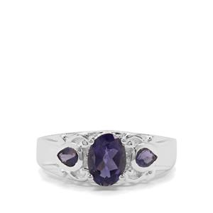 1.26ct Bengal Iolite Sterling Silver Ring