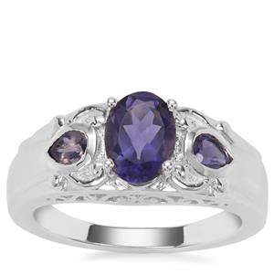 Bengal Iolite Ring in Sterling Silver 1.26cts