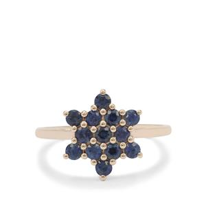 Australian Blue Sapphire Ring in 9K Gold 1cts