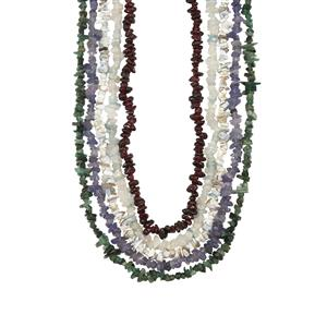 Kaleidoscope Gemstones Nuggets Bead Necklace 1500cts