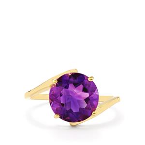 3.30ct Moroccan Amethyst 9K Gold Ring