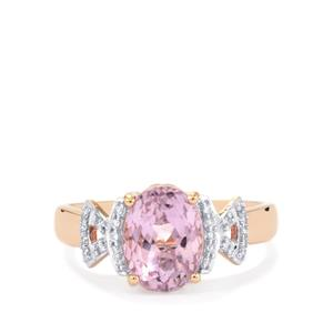 Mawi Kunzite Ring with Diamond in 18K Rose Gold 2.92cts