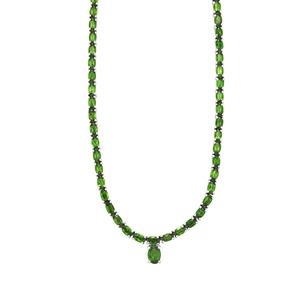 21.10ct Chrome Diopside Sterling Silver Necklace