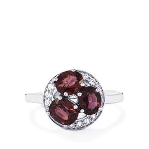 Burmese Multi-Colour Spinel Ring with Ratanakiri Zircon in Sterling Silver 2.85cts