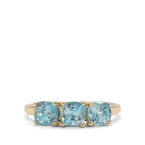 2.96ct Ratanakiri Blue Zircon 9K Gold Ring