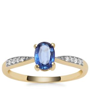 Nilamani Ring with White Zircon in 9K Gold 1.03cts