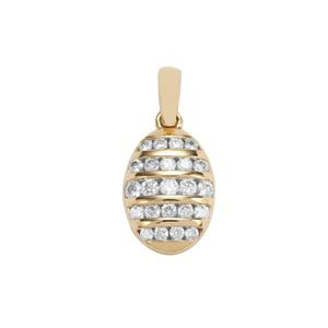 Canadian Diamond Pendant in 18K Gold 0.35ct
