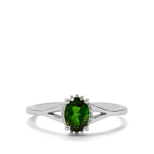 0.79ct Chrome Diopside Sterling Silver Ring