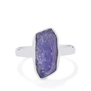 5.64ct Tanzanite Sterling Silver Aryonna Ring