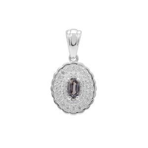 Burmese Multi-Colour Spinel & White Zircon Sterling Silver Pendant ATGW 0.70ct