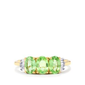 Paraiba Tourmaline & Diamond 14K Gold Tomas Rae Ring ATGW 1.43cts